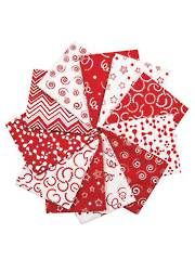 Fabric - Reflections Red Fat Quarters - 11/Pkg. - #275675