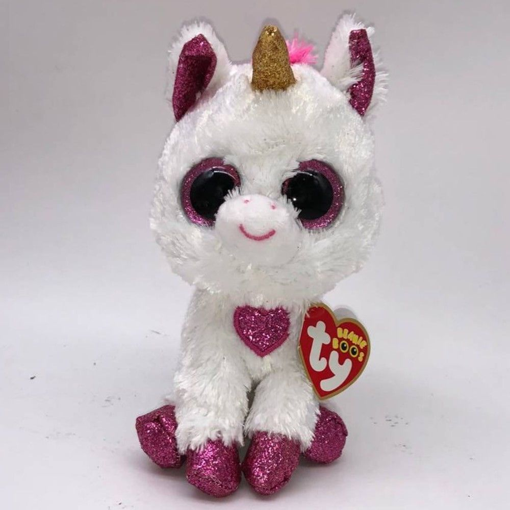 Cherie the Unicorn Plush Regular Soft Big-eyed Stuffed 15cm Toy with Heart  Tag  TyBeanieBoos 65f1d0756be7