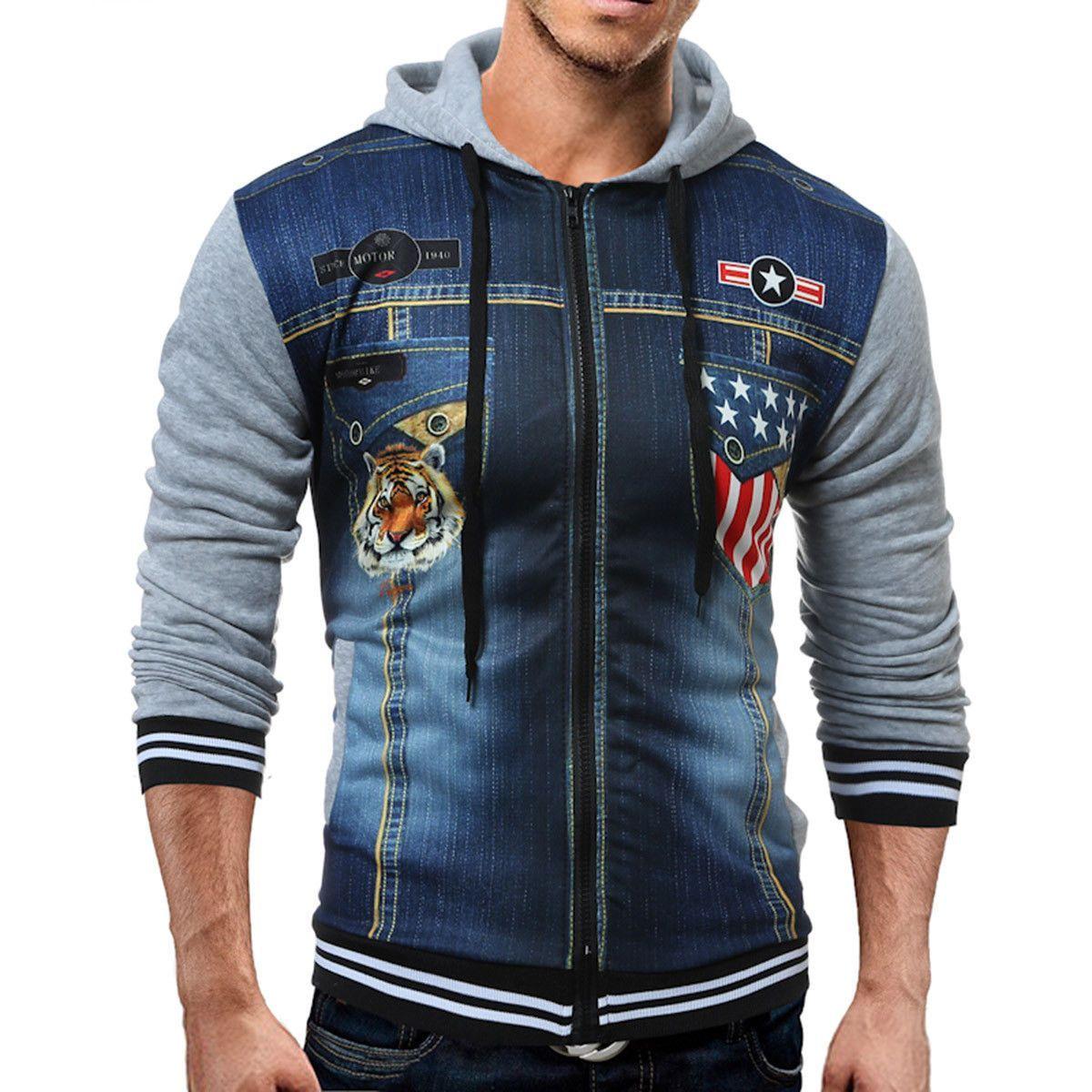 3a9898823781b New Men s Winter Slim Hoodie Warm Hooded Sweatshirt Coat Jacket Outwear  Sweater