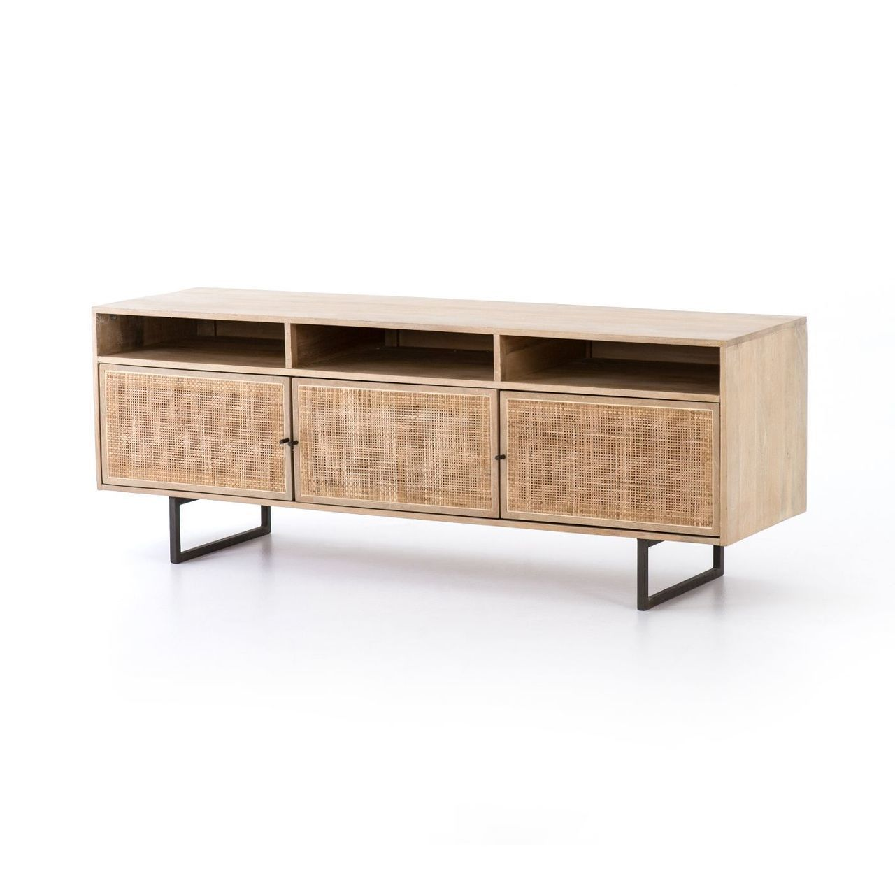 Dolores cane media console zin home