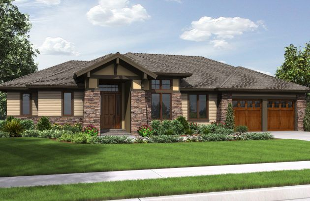 15 One Floor Houses Which Are More Than Amazing Prairie Style Houses Craftsman House Plans Craftsman Style House Plans