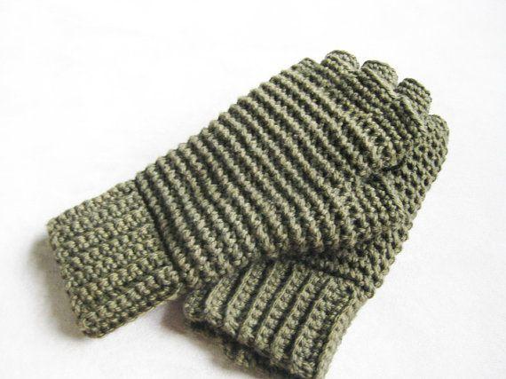 Mens Thermal Fingerless Gloves Crochet Pattern Kickin Crochet