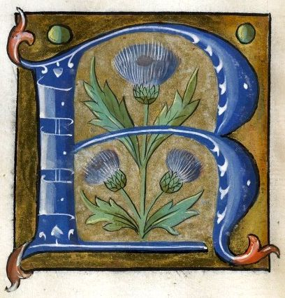"""R"" letter (f°23v) -- Alphabet Book, by French Artist, Paris (France), ca1550 [Walters W.200]"