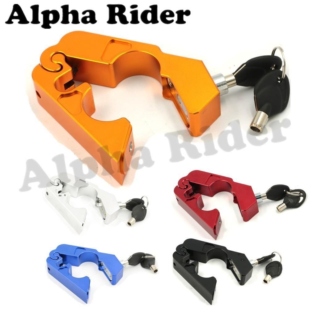 CNC Aluminum Handle Grip Security Safety Locks Handlebar Handset Brake Lever Lock Fit Scooters ATV Motorcycles Dirt Street Bikes //Price: $US $19.52 & FREE Shipping //