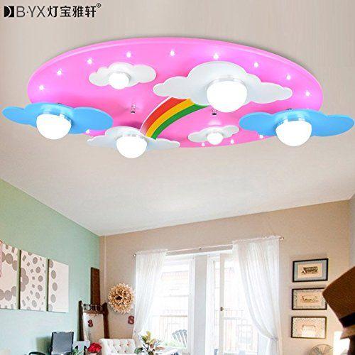 Bl estilo c lido nubes arco iris habitaciones de los ni os - Lamparas techo ninos ...