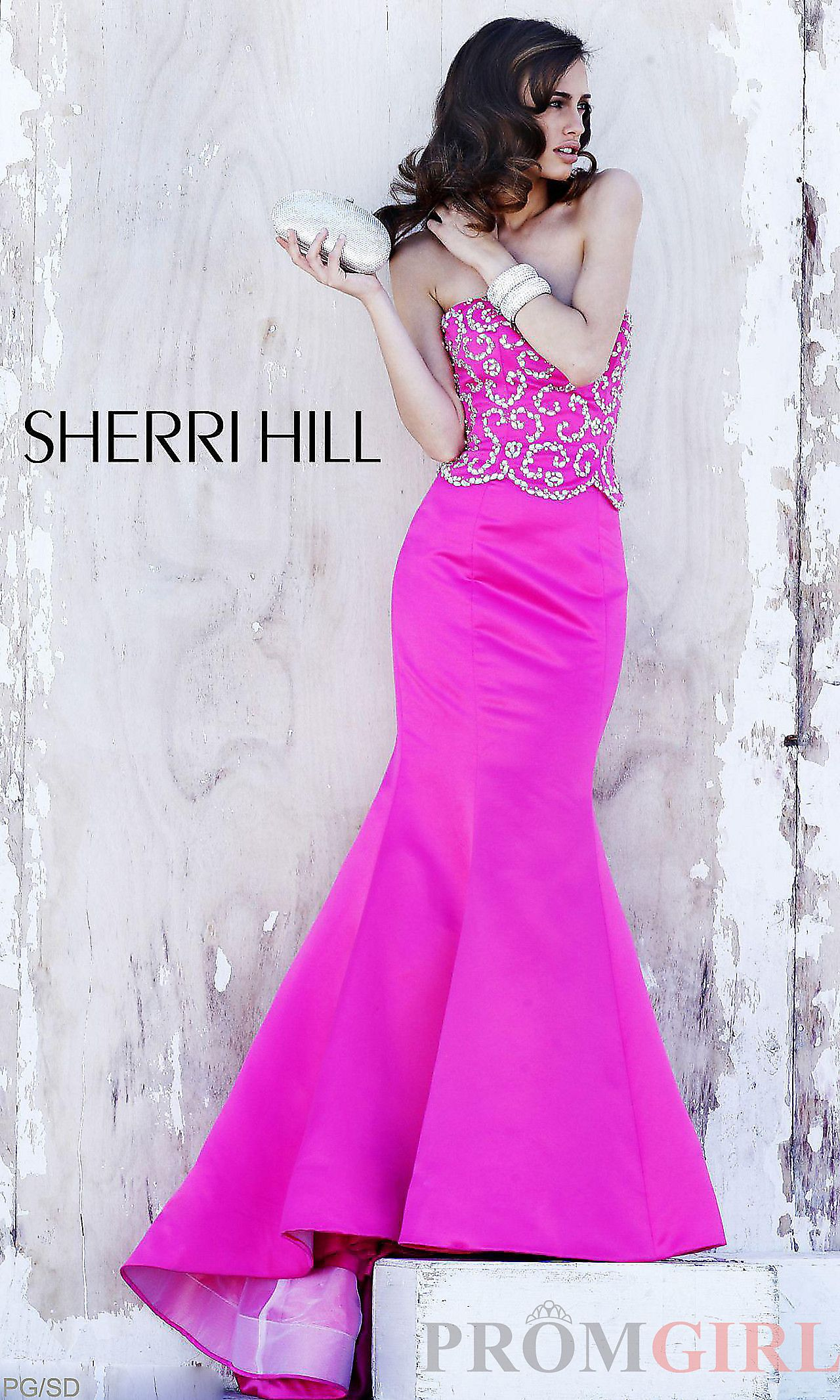 Strapless floor length sherri hill dress sh oooohhhh