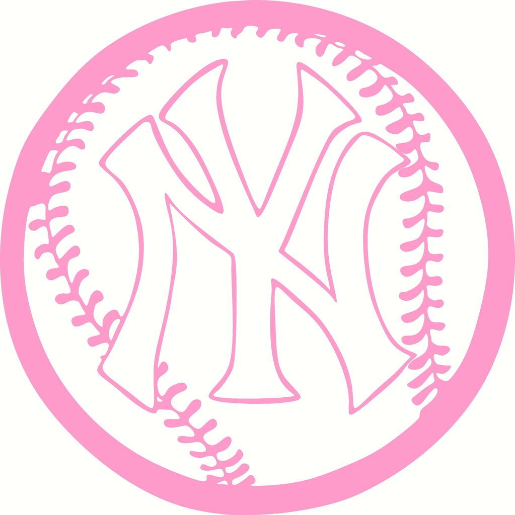 Ny Yankees Base Ball Car Tattoo Vinyl Sticker Pnk Time Ny Yankees Yankees Yankees Logo