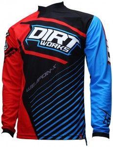 Download Jersey Sepeda Dirtworks Weapon X Merah Biru Desain Kaos Jersey Biru Kaos
