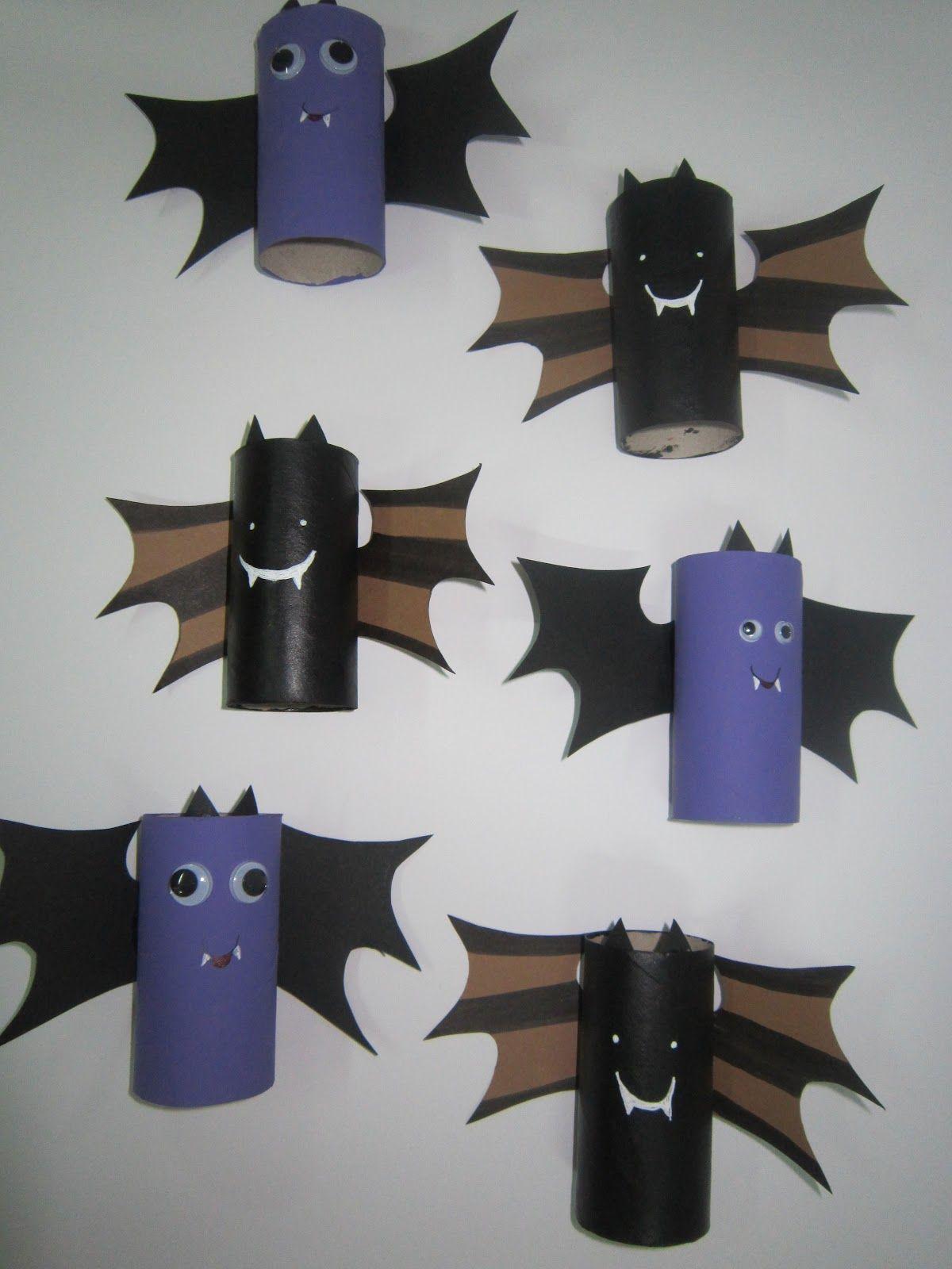Halloween Con Rollos De Papel Murcielagos 2 Jpg 1 200 1 600 Pixeles Manualidades Manualidades Para Niños Decoración Halloween