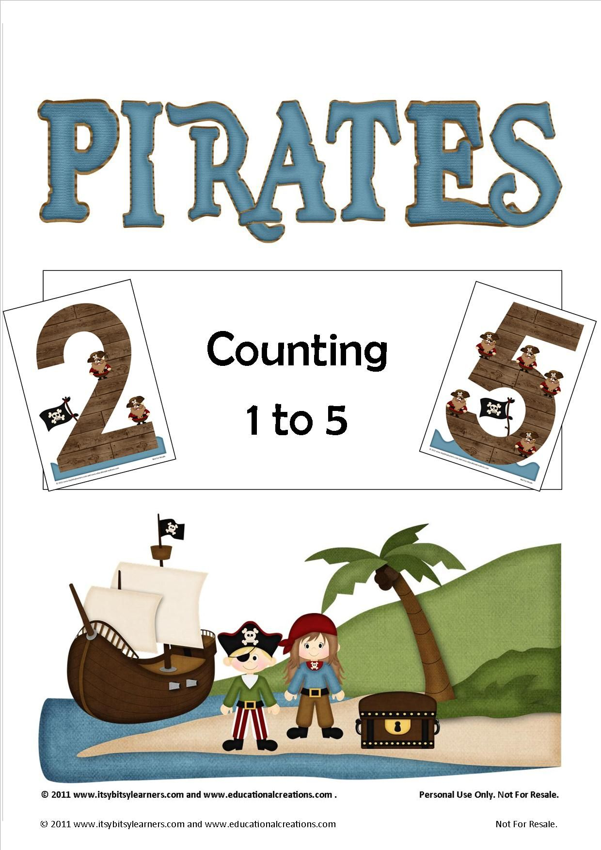Free Pirates Counting 1 To 5