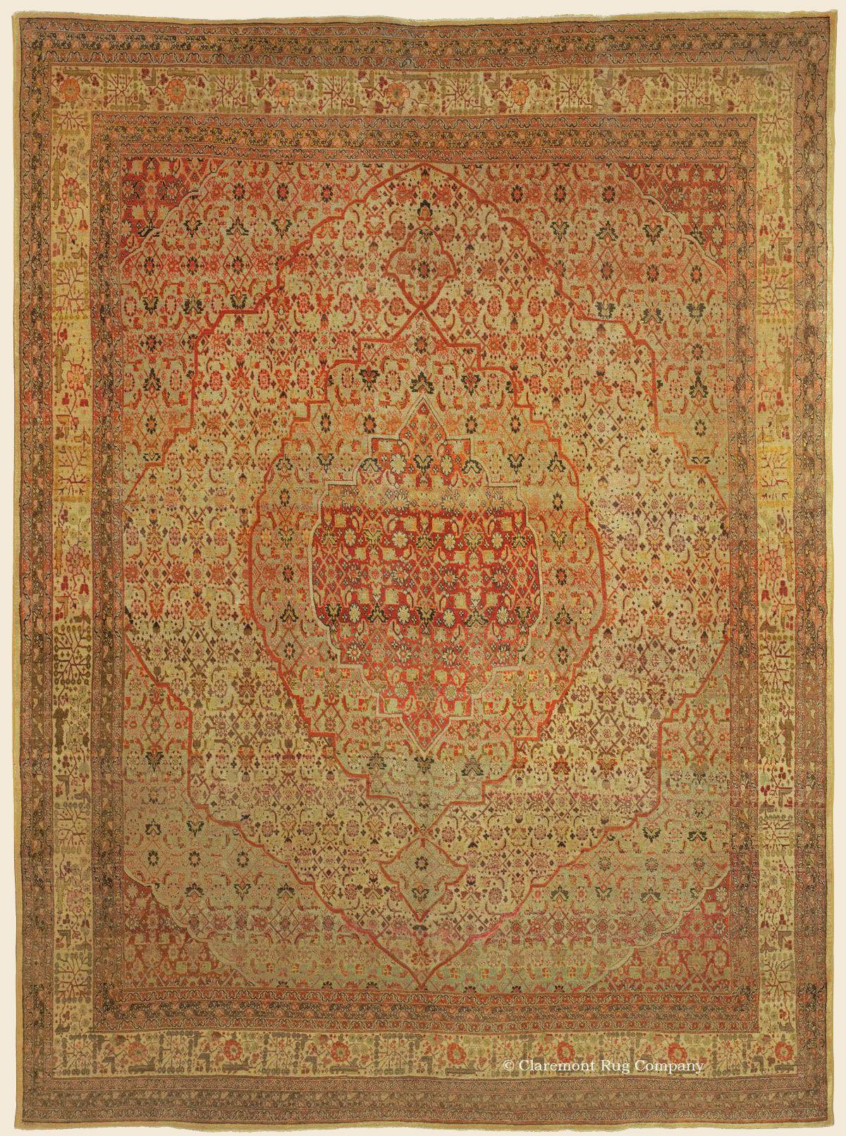 Hadji Jallili Haji Jalili Tabriz Northwest Persian Antique Rug 9 4 X 12 7 Late 19th Century Claremont Rug Rugs On Carpet Rugs Claremont Rug Company