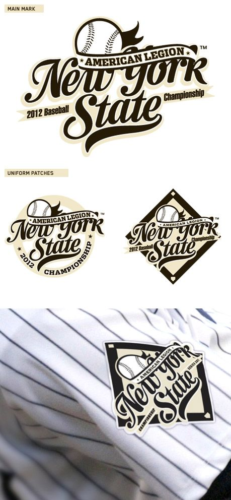 American Legion New York State Baseball Logo By Mark Brooks Tuto Illustrator Logos Fanion