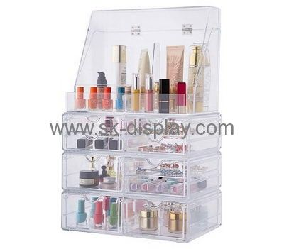 Customized acrylic organiser acrylic makeup storage containers