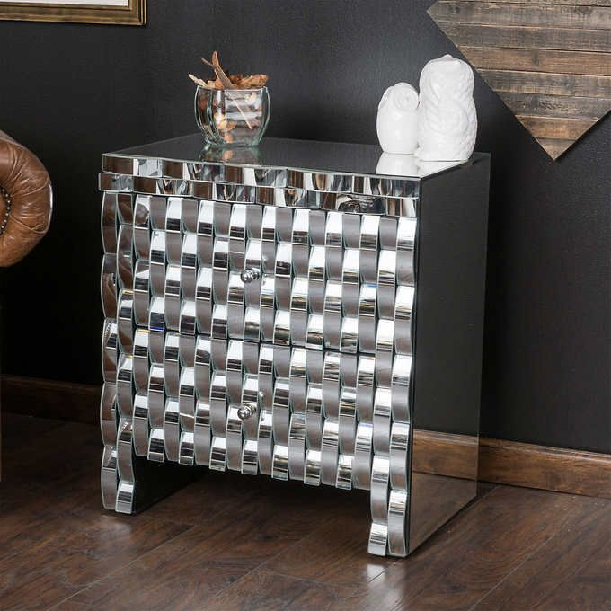 Bardot Mirrored End Table Costco Furniture Pinterest Bardot