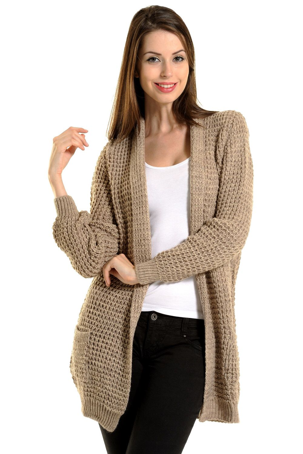 Mink Open cardigan long cardigan womens cardigan woman knit ...