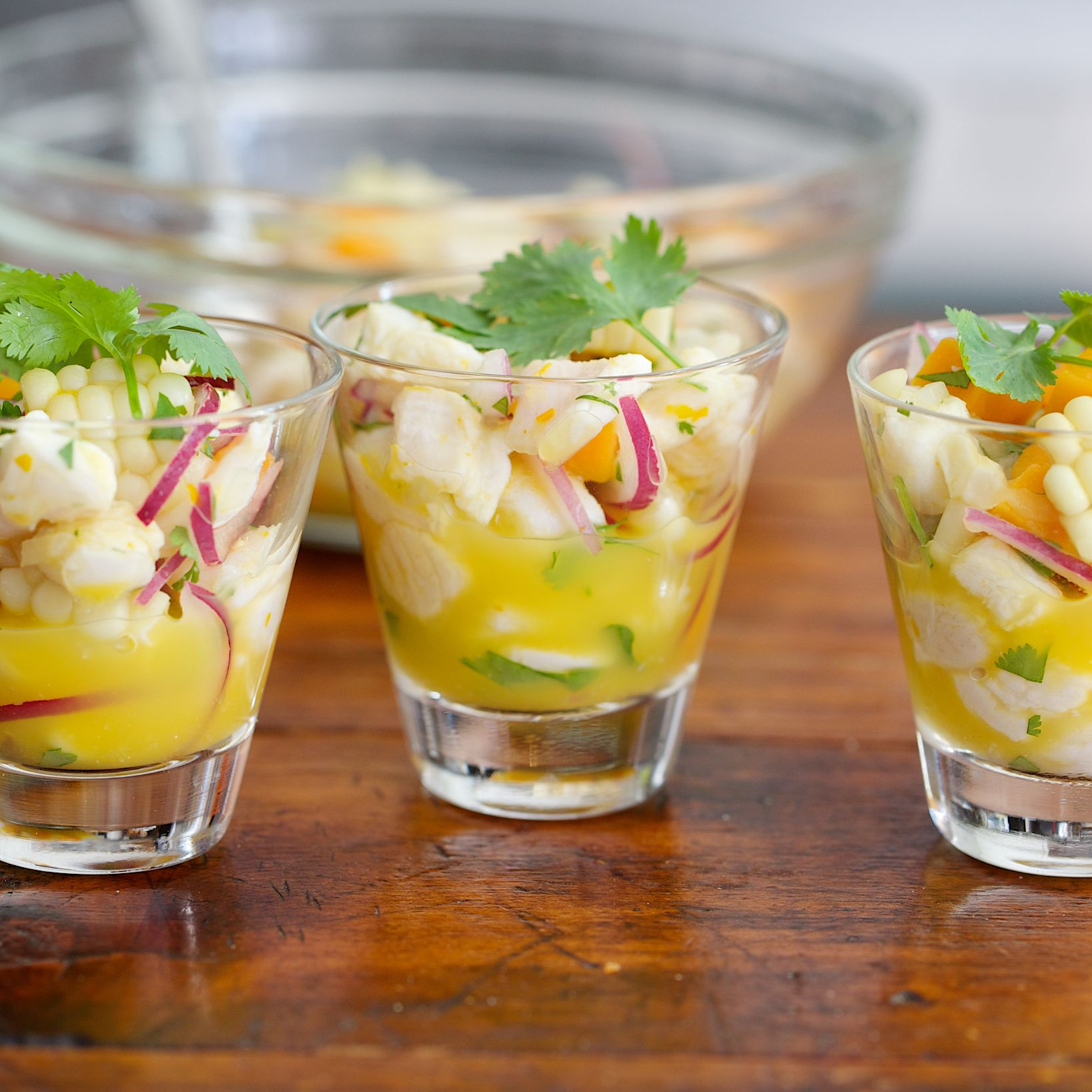 """Delicate white fish """"cooked"""" in a mixture of lime juice and chile paste makes a refreshing appetizer on a hot day."""