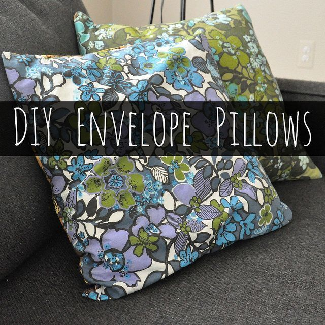 Sew vintage/repurposed fabric into simple envelope pillow covers to personalize : Sew vintage/repurposed