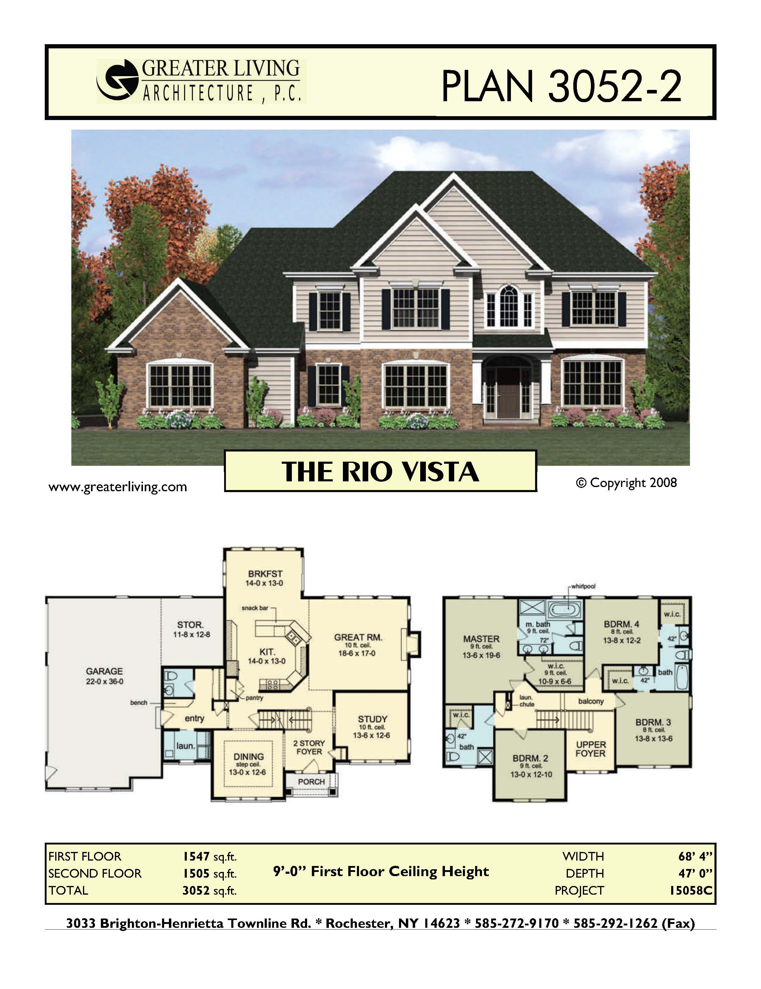 Plan 3052-2: THE RIO VISTA | House Ideas | Pinterest | Empty ...