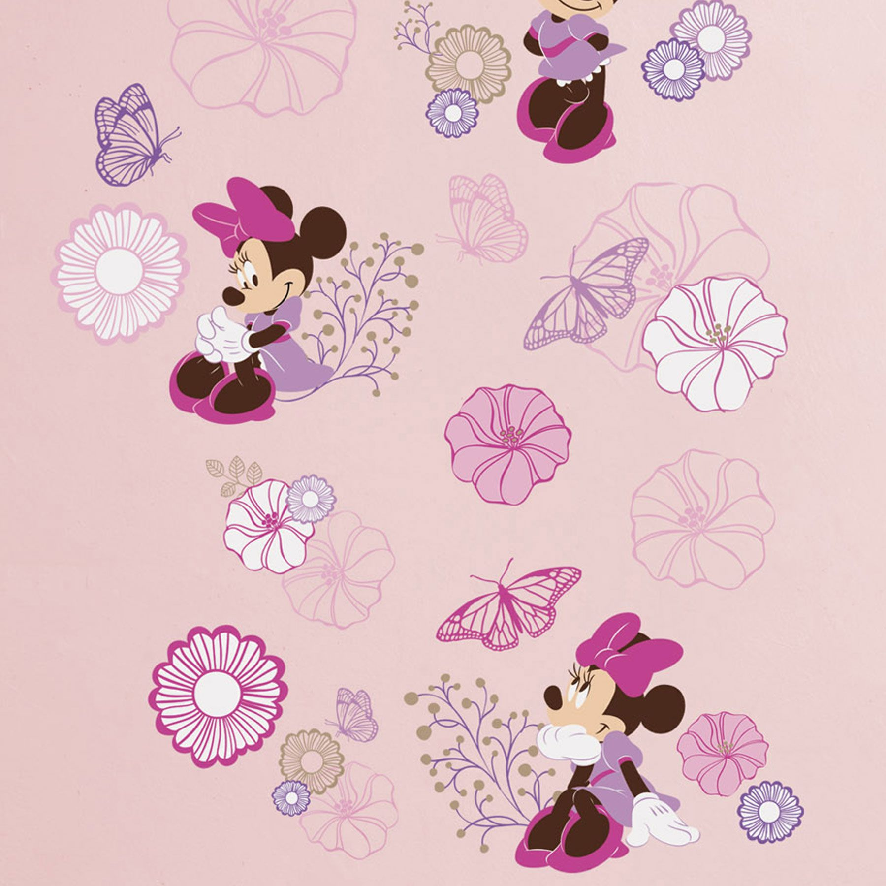 Add some style to the walls and decorate your little mouses add some style to the walls and decorate your little mouses nursery with the minnie mouse butterfly dreams wall decals coordinates with other items in the biocorpaavc
