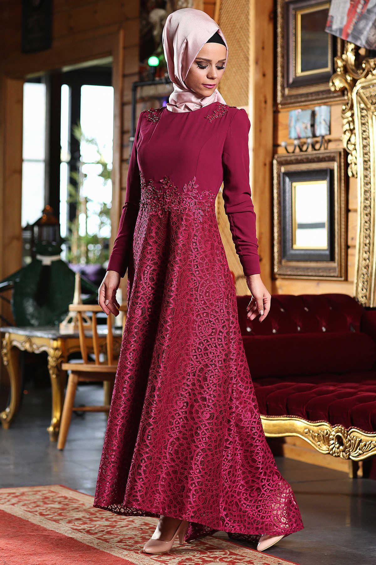 Patirti Tesettur Kuyruklu Elbise Modelleri The Dress Aksamustu Giysileri Moda Stilleri