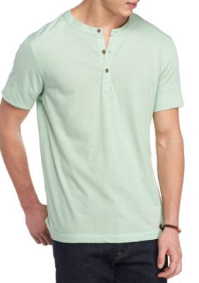 Jared Short Sleeve Solid Henley Shirt   Products   Henley