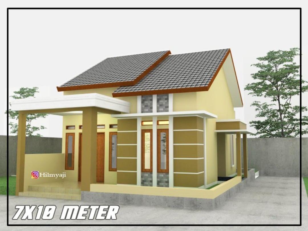 Inspirasi Denah Rumah Di Instagram Desain Rumah 7x10 2 Kamar Rumah7meter Di Kampung Tanah Hook 2 Kamar Haqtv Idedenahr Rumah Rumah Minimalis Desain Rumah