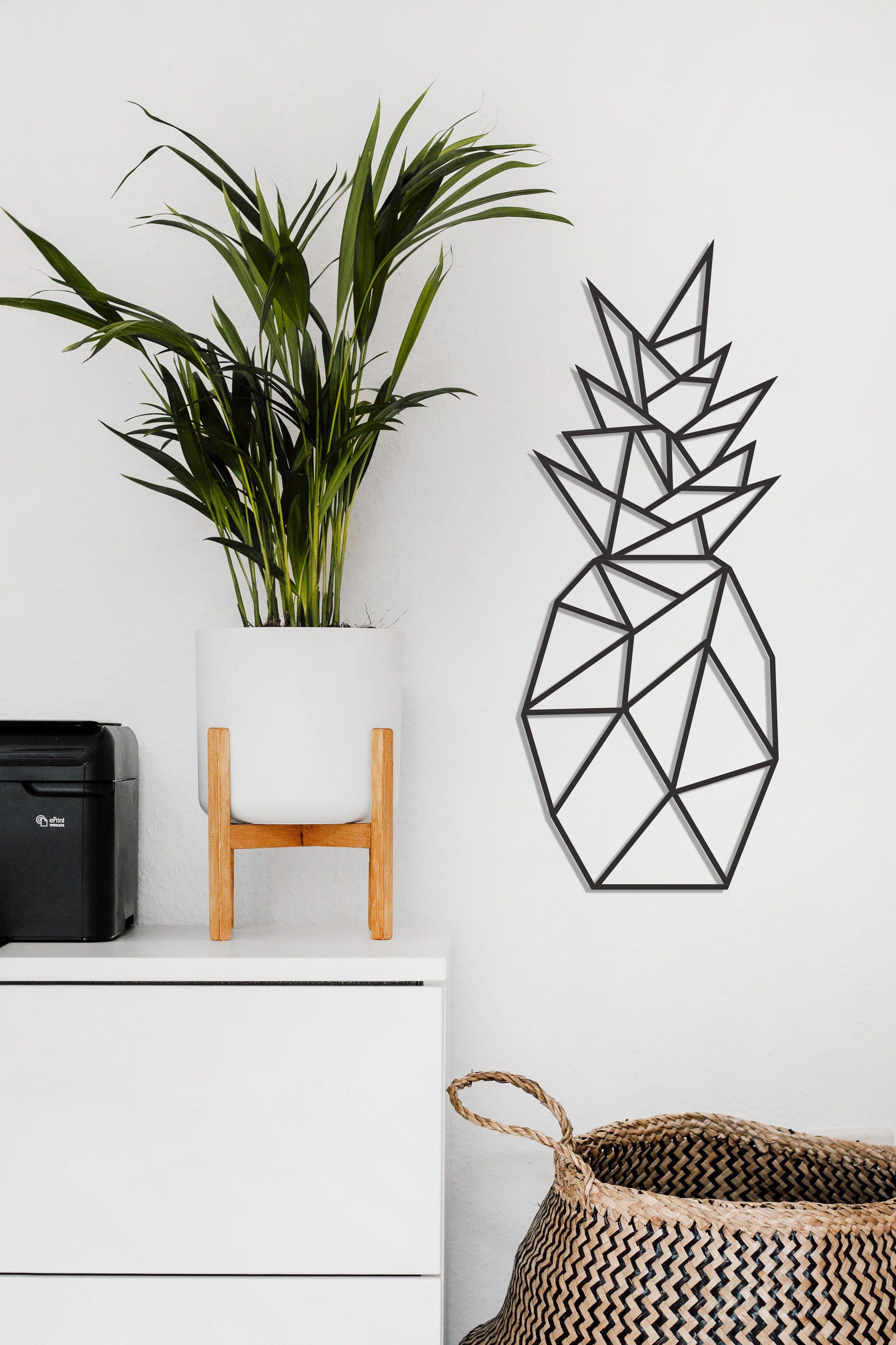 Pineapple Metal Wall Decor Is Designed By Serenity Studio Pineapple Wall Art Metal Decor Stylish Deco House Warming Gift Diy Kitchen Metal Wall Room Decor