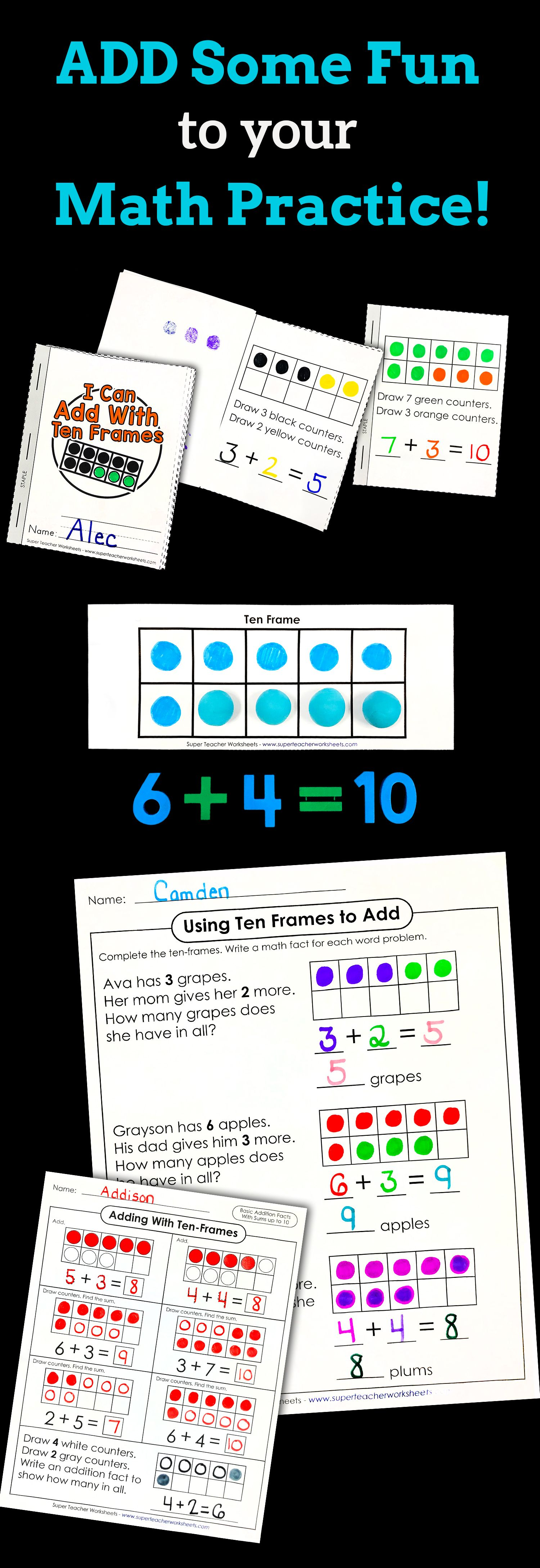 Adding Worksheets And Activities Basic Addition Worksheets Super Teacher Worksheets Addition Worksheets