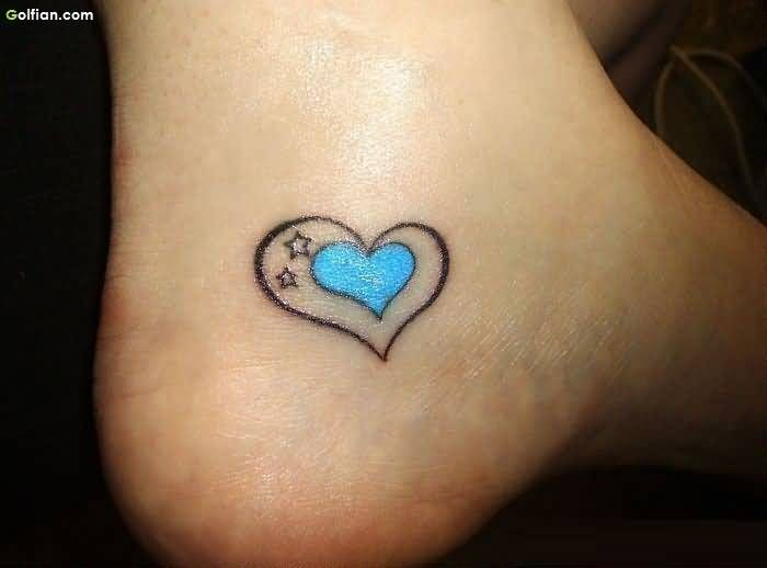 Heart Ankle Tattoo Designs Popular Little Heart Tattoos For Foot Heart Foot Tattoos Heart Tattoo Ankle Ankle Tattoo