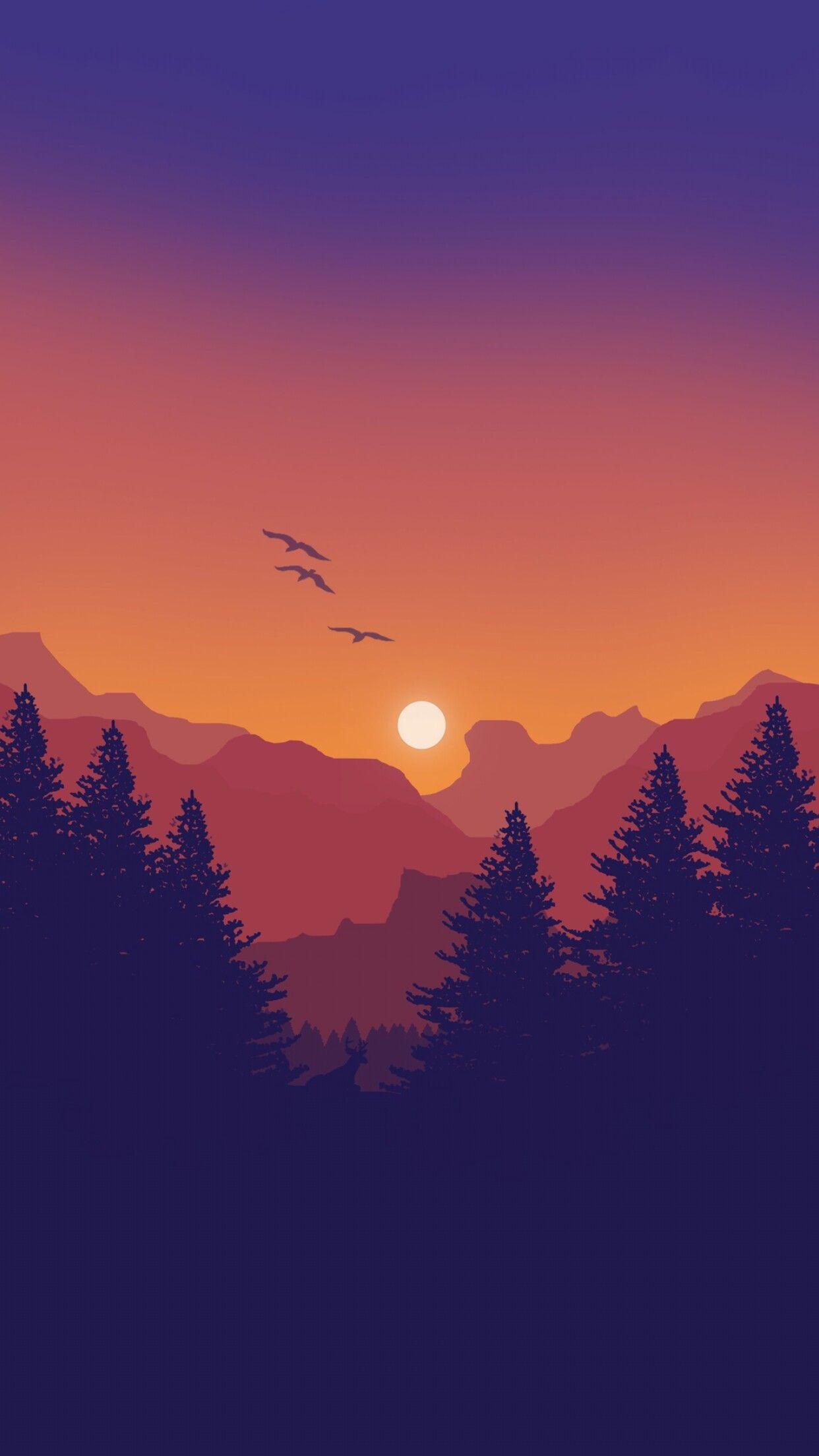 Inspo For Flat Style Graphics Pemandangan Khayalan Pemandangan Latar Belakang
