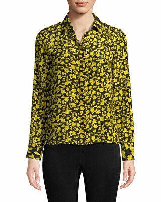 09386499198fe3 Alice + Olivia Designer Willa Floral Print Silk Shirt   Avivey ...