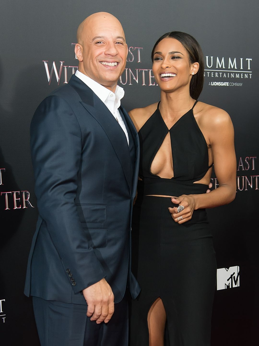 """Actor Vin Diesel and singer Ciara attend """"The Last Witch Hunter"""" New York Premiere on October 13, 2015 in New York City.   Gilbert Carrasquillo, FilmMagic"""