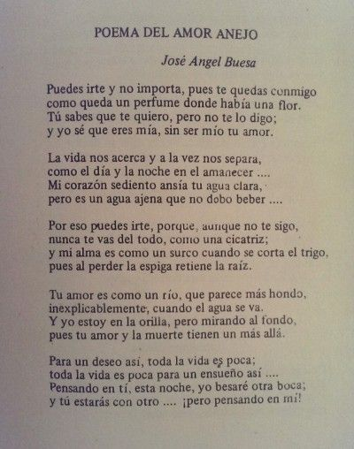 Jose Angel Buesa Tumblr Poemas Pinterest Jose Angel Buesa