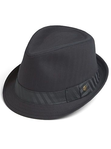 a262d435d Accessories - Free Authority Black Banded Fedora - Men's Wearhouse ...