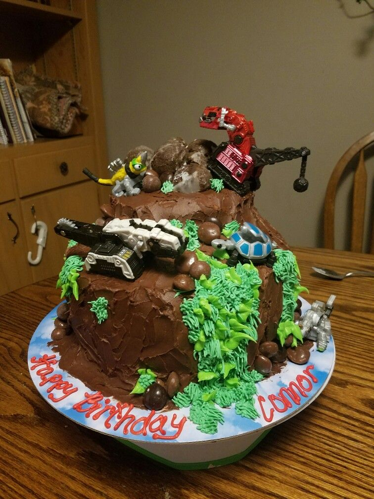 Dinotrux Cake Baking In 2019 4th Birthday Cakes Truck