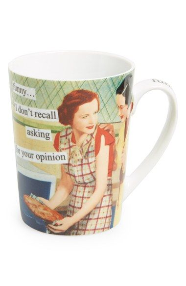 ANNE TAINTOR 'Funny, I Don't Recall Asking for Your Opinion' Mug available at #Nordstrom