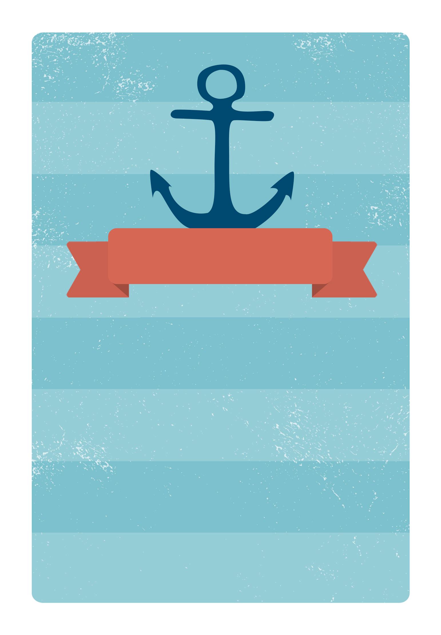 anchored ribbon free printable party invitation template