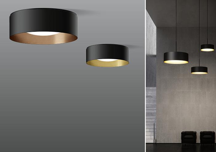 Studio Line New Luminaire Series In Elegant Velvet Black