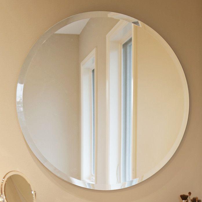 Howard Elliott Frameless Round Wall Mirror Decorating Pinterest