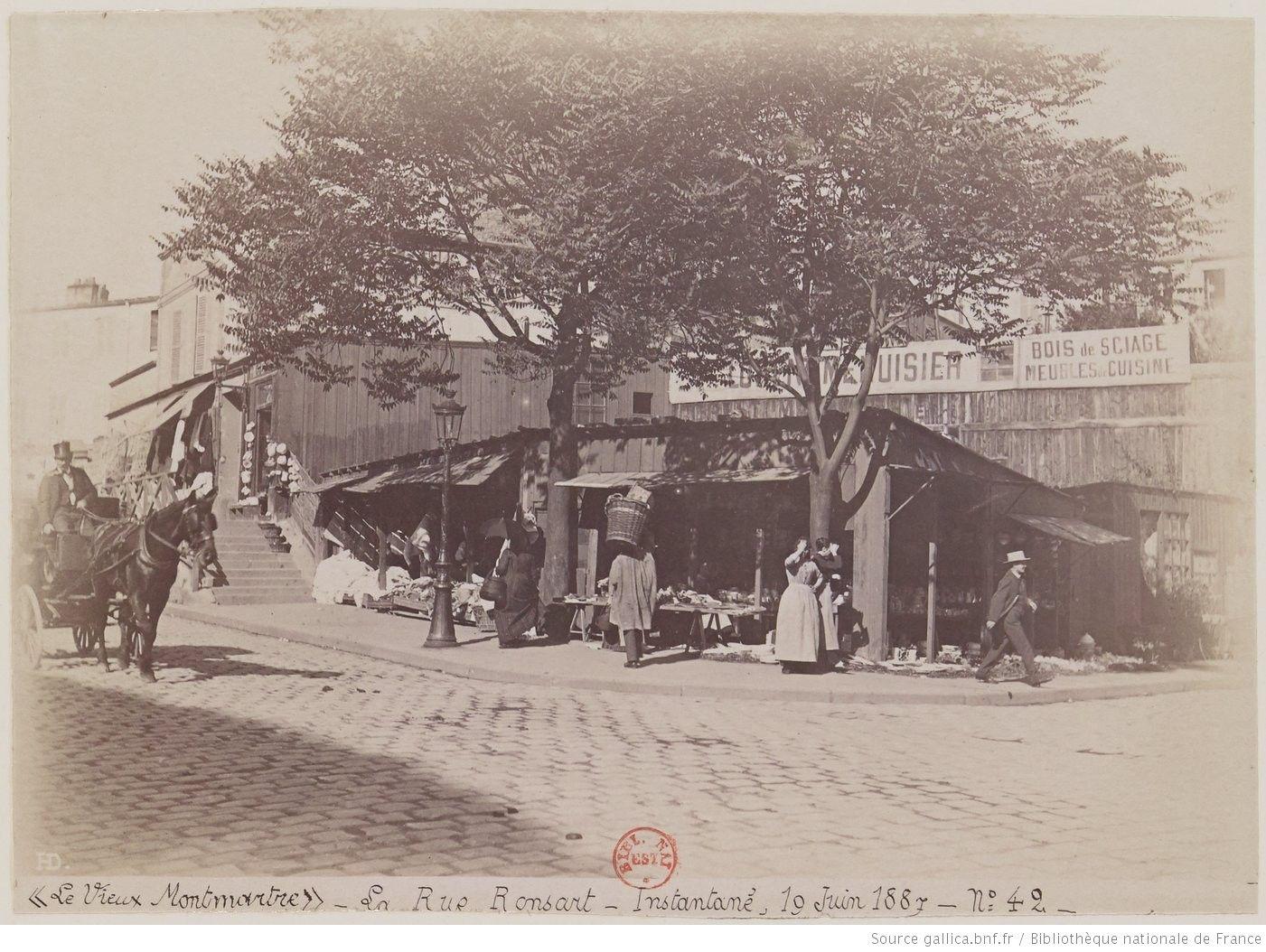 Recueil De Photographies Le Vieux Montmartre 1852 1890 Hd Gallica Vieux Paris Paris Photographie