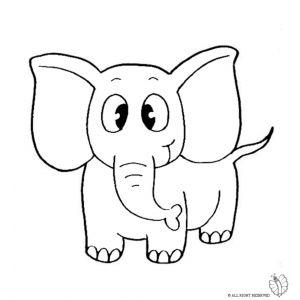 Disegno di elefante da colorare disegni di animali da for Disegno pesciolino da colorare
