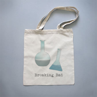 Bolso de tela Breaking Bad by Pendientera  http://es.qstoms.com/pendientera/bolso-de-tela-breaking-bad#