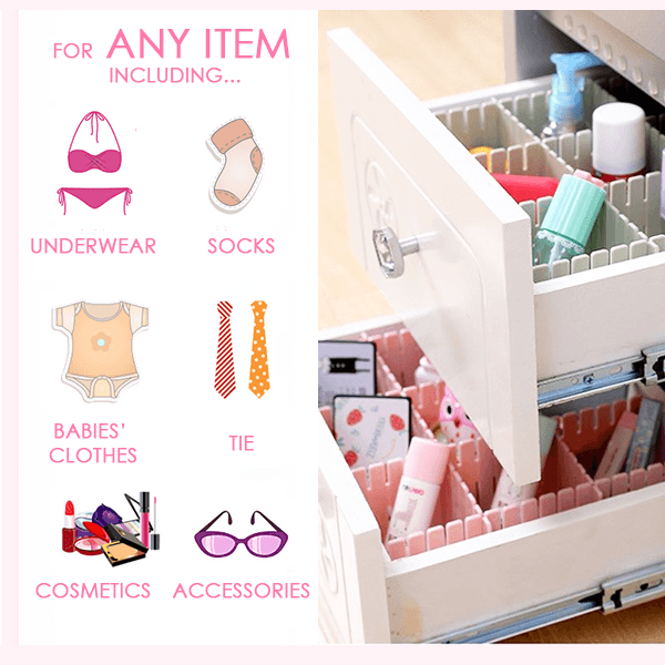 Free Combination Adjustable Drawer Organizer Set Of 4 In 2020