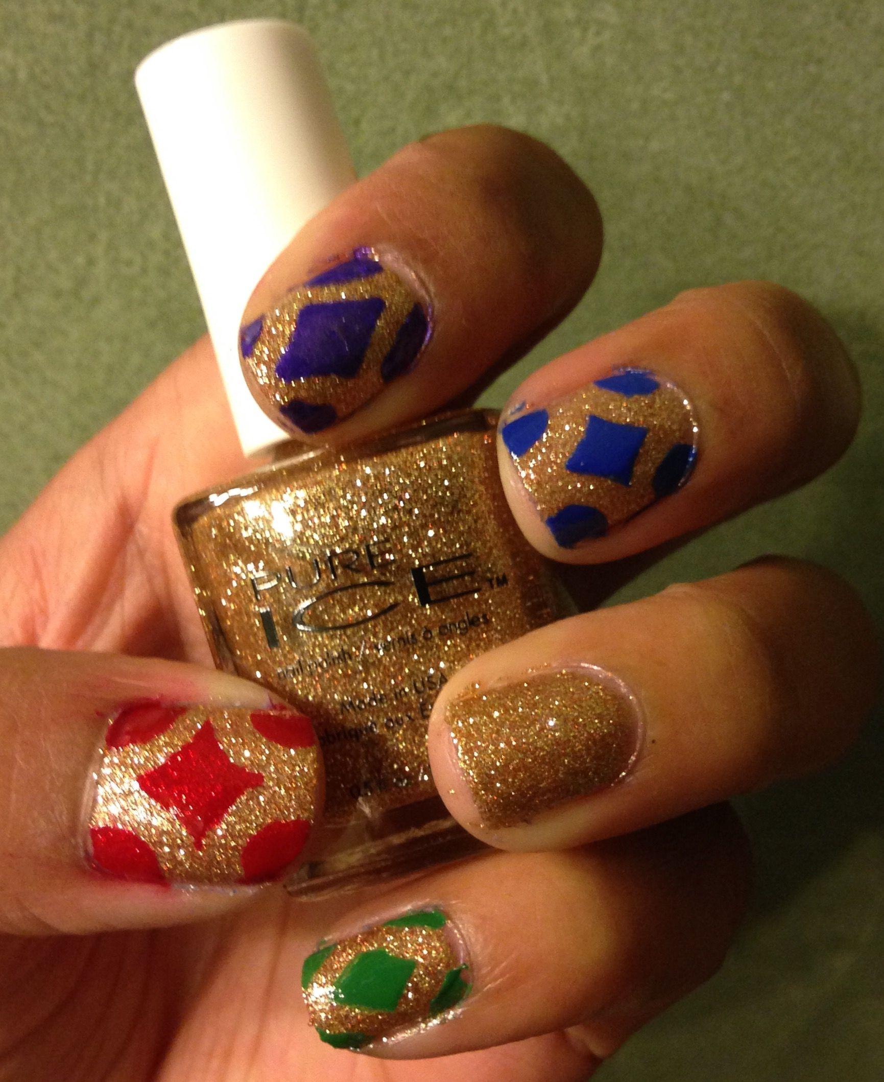 Royal Nail Art Gems Gold Jewels Nails Pinterest