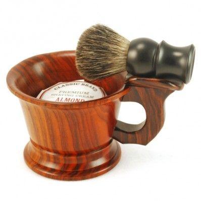 New World Shaving Mug With Brush Rest Close Cut Shaving Wet