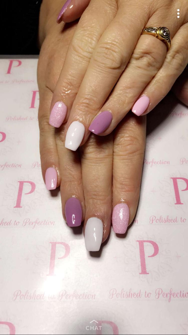 Nails Purple And Pink Nails Pink Nails Pretty Nails
