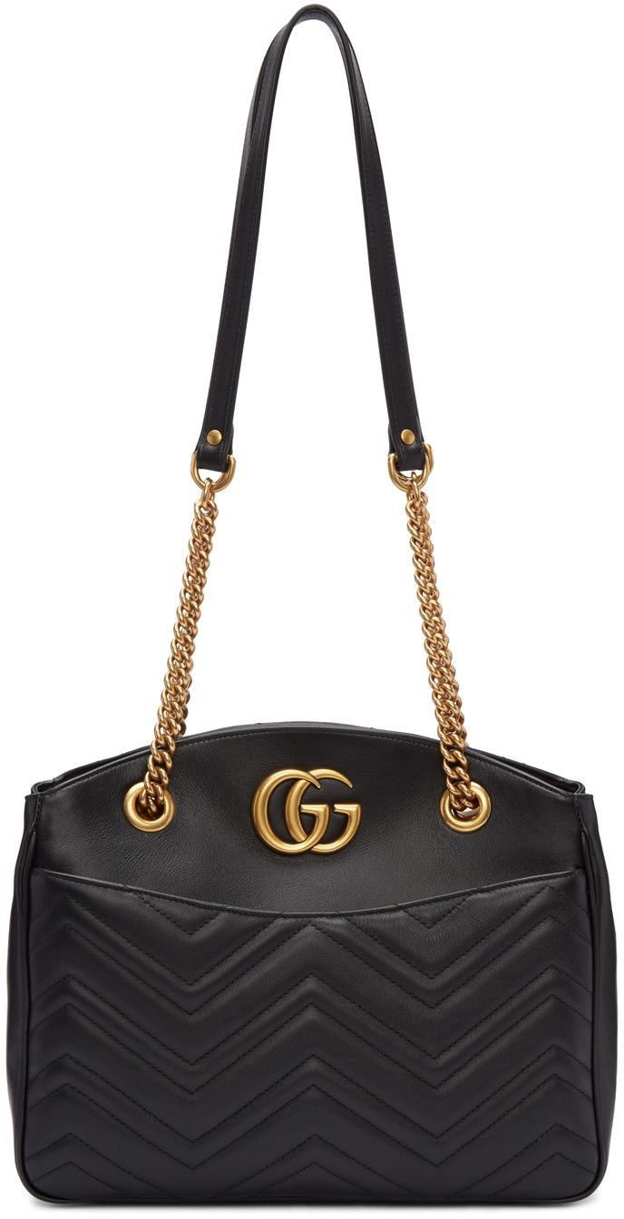 f16d6cf68aabe6 Gucci - Black Medium GG Marmont Matelassé Tote | Fashion in 2019 ...