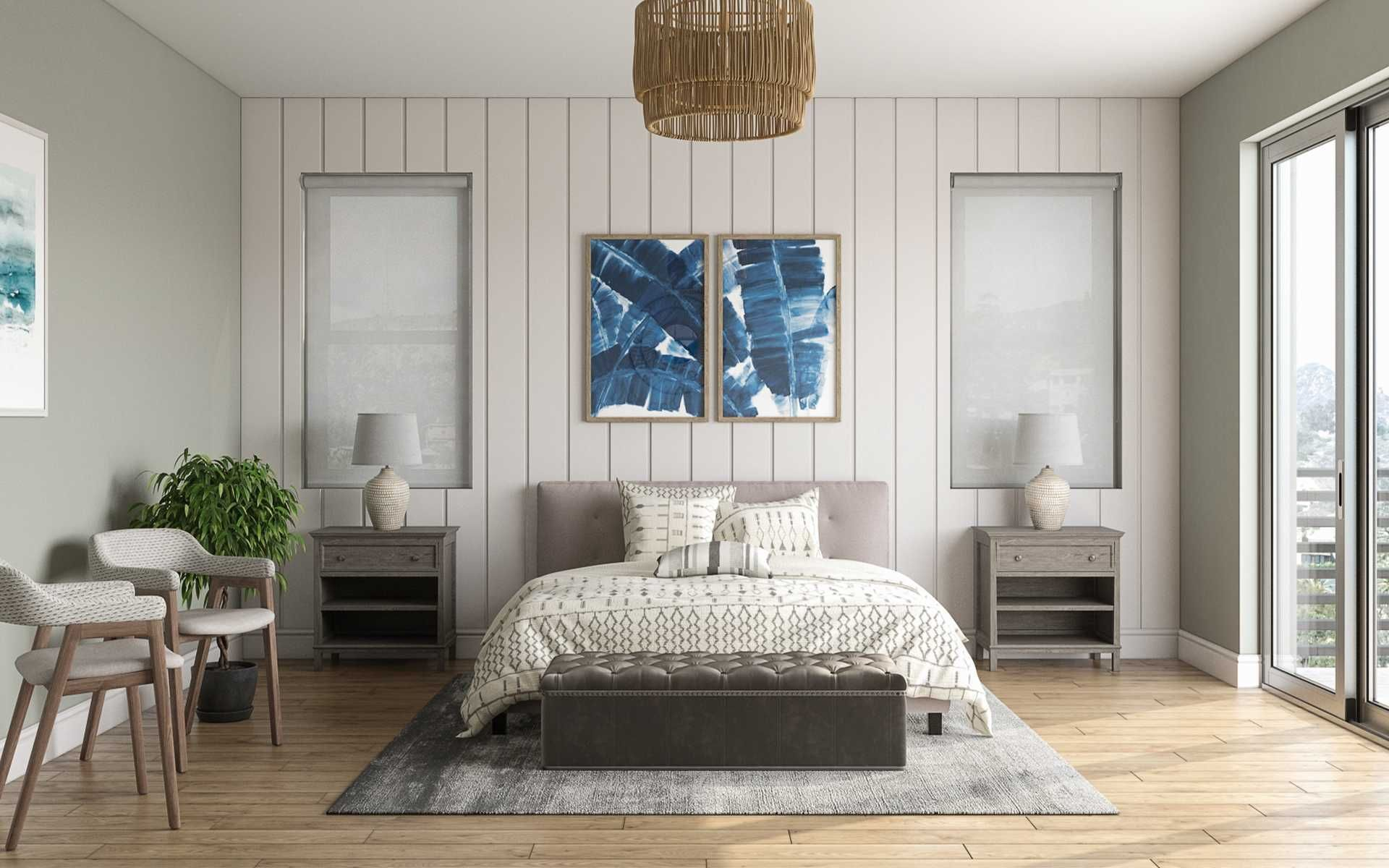 Coastal Farmhouse Bedroom Design By Havenly Interior Designer Caitlin In 2021 Bedroom Furniture Design Interior Design Bedroom Design