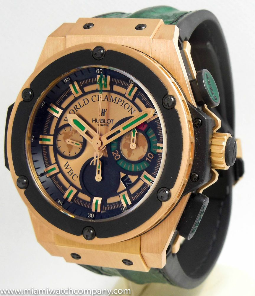 The Hublot Knockout Watch will come in a set of 12 unique watches, each designed for a specific boxing legend.