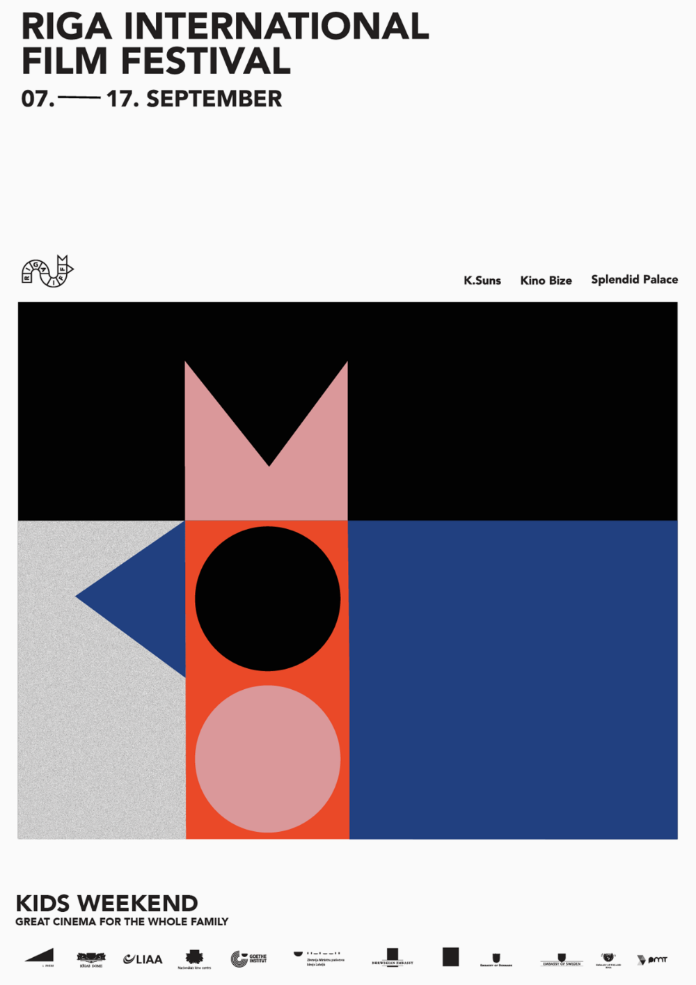 Riga IFF visual identity by «Associates, Partners et Sons